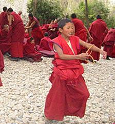 Monje budista. China